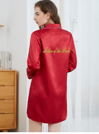 Personalized Polyester Bride Bridesmaid Mom Junior Bridesmaid Blank Robes Print Robes