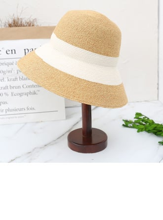 Ladies' Lovely/Simple Polyester Straw Hats