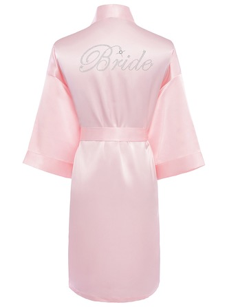 Personalized Charmeuse Bride Bridesmaid Mom Rhinestone Robes