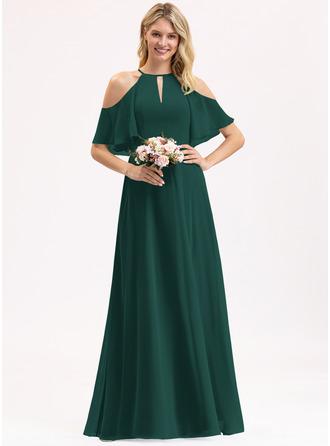 Round Neck 1/2 Sleeves Maxi Dresses