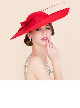 Ladies' Elegant Cambric With Bowknot Bowler/Cloche Hats/Kentucky Derby Hats