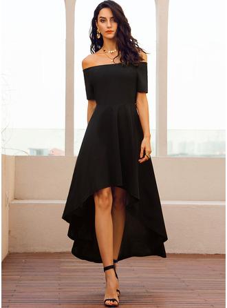 Off the Shoulder Short Sleeves A-line Dresses