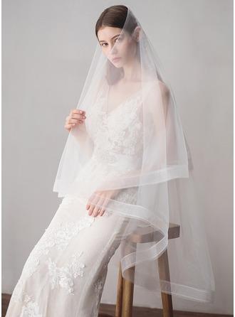 Two-tier Pencil Edge Waltz Bridal Veils
