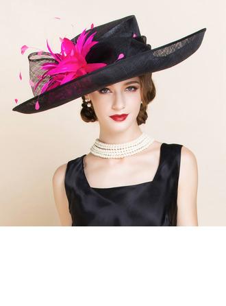 Ladies' Beautiful Linen/Flax Kentucky Derby Hats