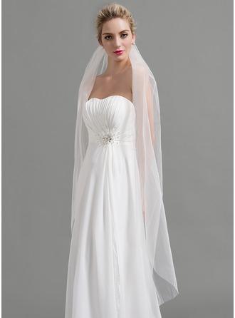 One-tier Cut Edge Waltz Bridal Veils