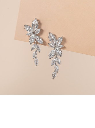 Ladies' Elegant Zircon Earrings For Bride/For Bridesmaid/For Mother