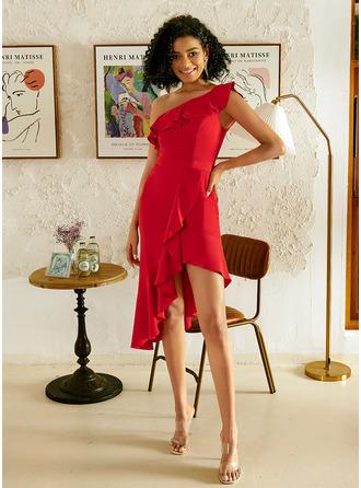 One Shoulder Sleeveless Asymmetrical Dresses