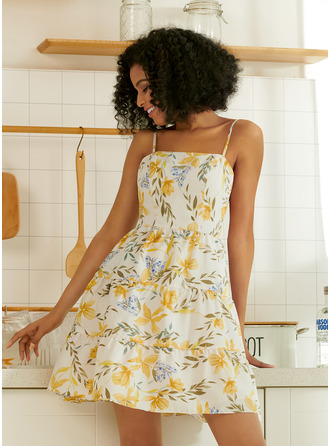 Square Neck Sleeveless Mini Dresses