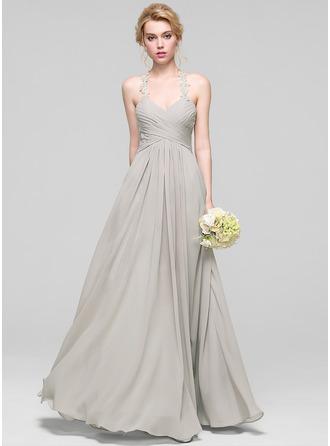 Sweetheart Floor-Length Chiffon Bridesmaid Dress With Ruffle