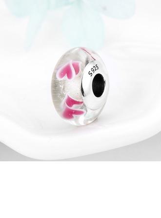 Perler med hjerte Murano Glass - Valentines Gaver