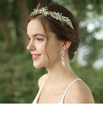 Ladies Beautiful Rhinestone/Alloy Headbands (Set of 3)
