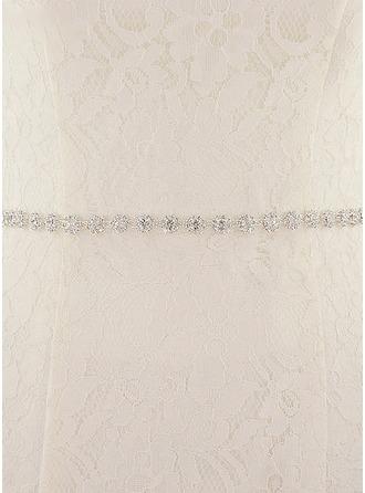 Elegant/Nydelig Satin Bånd med Profilering/Rhinestones
