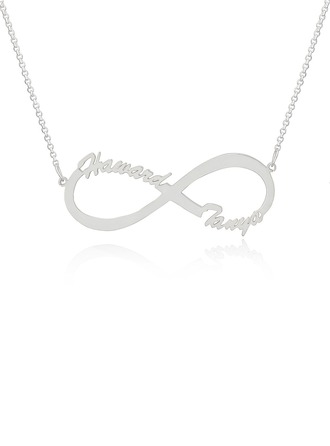 Custom Sterling Silver Infinity Two Name Necklace Infinity Name Necklace - Birthday Gifts Mother's Day Gifts