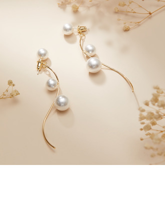 Classic Alloy/Pearl Earrings