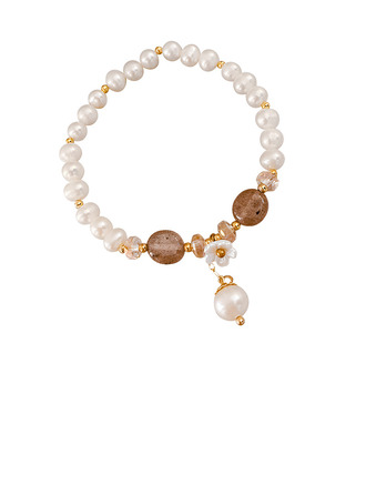 Beaded Stone Charm Bracelets -