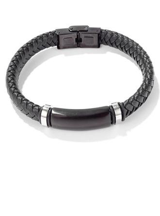 Custom Men Braided Leather Bracelets -