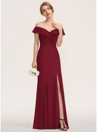 Off the Shoulder Sleeveless Maxi Dresses