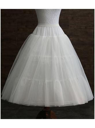 Girls Tulle Netting/Taffeta 3 Tiers Petticoats