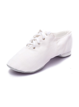 Women's Canvas Flats Jazz Dance Shoes