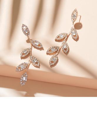 Ladies' Fashionable Alloy/Rhinestones Rhinestone Earrings