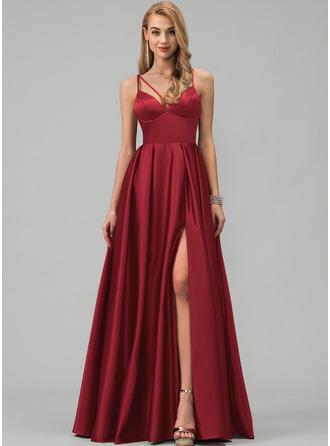 Burgundy V-Neck Sleeveless Maxi Dresses