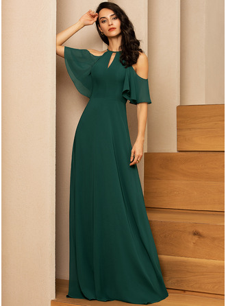 Round Neck 1/2 Sleeves Maxi Dresses