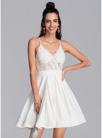 V-Neck Sleeveless Mini Dresses