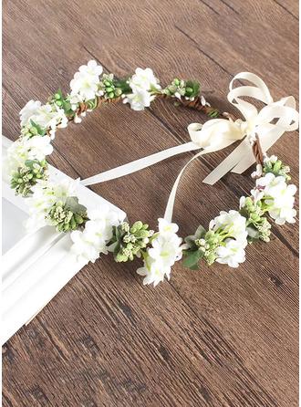 Silk Flower With Flower Flower Headband (Sold in a single piece)