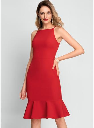 Square Neck Sleeveless Midi Dresses