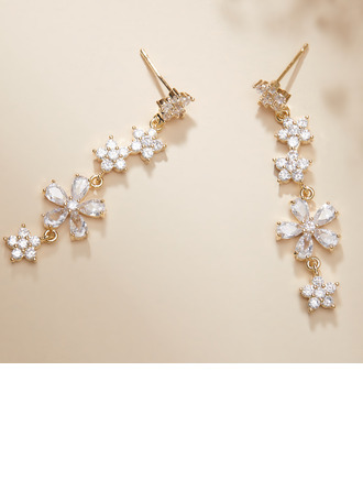 Unique Alloy/Rhinestones Earrings