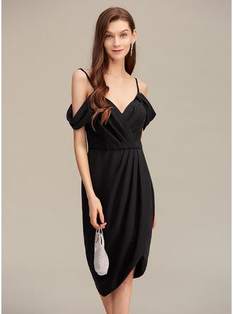 V-Neck Sleeveless Asymmetrical Dresses