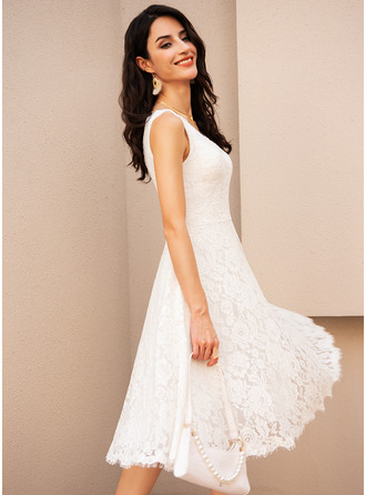 V-Neck Sleeveless Midi Dresses