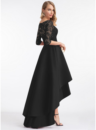 Round Neck 1/2 Sleeves Asymmetrical Dresses