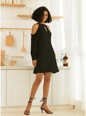 Halter Long Sleeves Mini Dresses