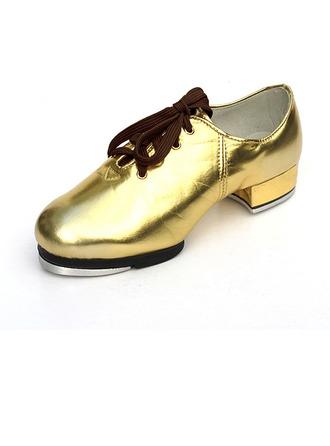 Unisexmodell Lær Flate sko Trykk Dansesko