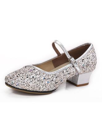 Kvinner Glitrende Glitter Hæle Ballrom Dansesko