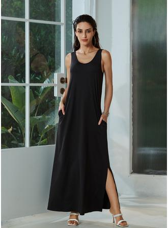 Round Neck Sleeveless Midi Dresses
