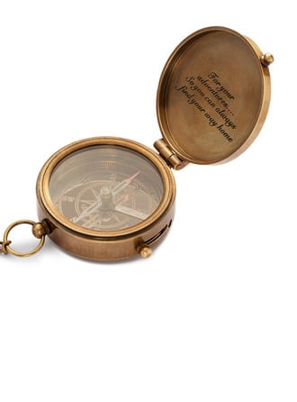 Groom Gifts - Personalized Vintage Copper Compass