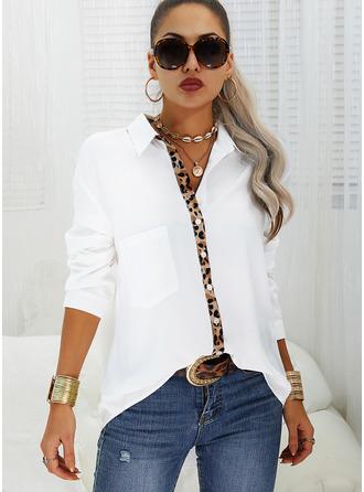 Regular Cotton Blends V-Neck 3XL L S M XL XXL Blouses Size Chart Blouses