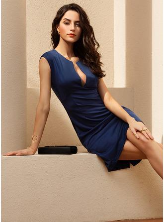 V-Neck Sleeveless Bodycon Midi Dresses