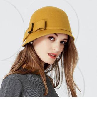 Damene ' Vakkert Ull med Bowknot Stiv / Cloche Hatt
