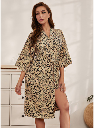 Non-personalized Polyester Print Robes