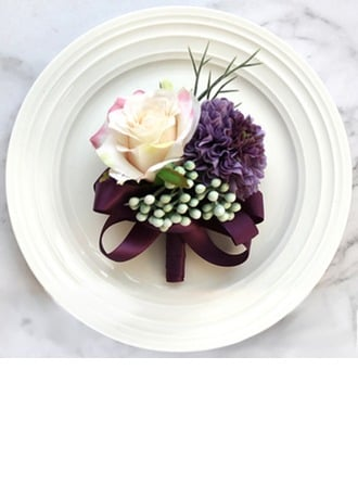 Refined Free-Form Cloth Boutonniere -