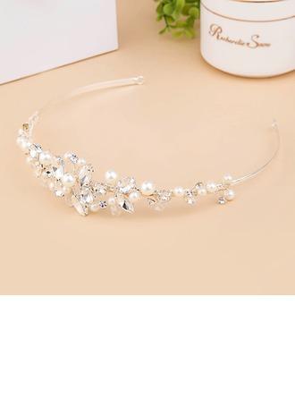 Elegant Crystal/Imitation Pearls Tiaras With Rhinestone