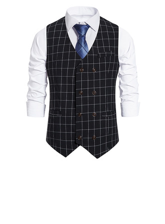 Klassisk stil Polyester Menn Vest