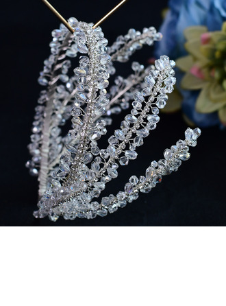 Ladies Beautiful Crystal/Rhinestone/Czech Stones/Zircon/Glass Stage Props Headpiece (Sold in single piece)