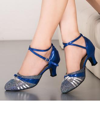 Kvinner Glitrende Glitter Ballrom Dansesko