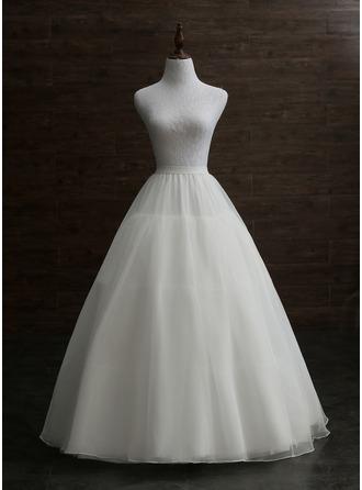 Women Nylon Floor-length 3 Tiers Petticoats