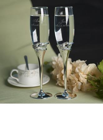 Personalized Toasting Flutes Zinc Alloy/Glass Toasting Flutes