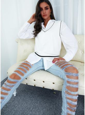 V-Neck Sleeveless Regular Print Casual Vest/Sleeveless